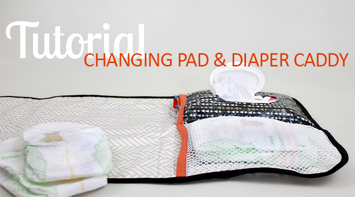 The Inspired Wren Tutorial On The Go Diaper Caddy Changing Pad
