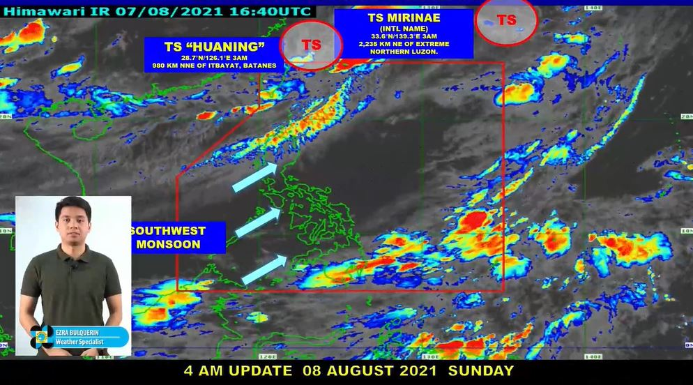 PAGASA weather update August 8, 2021