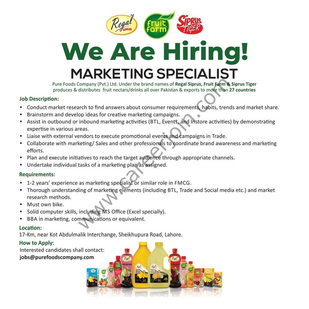 purefoodscompany.com - Pure Foods Company Pvt Ltd Jobs 2021 in Pakistan