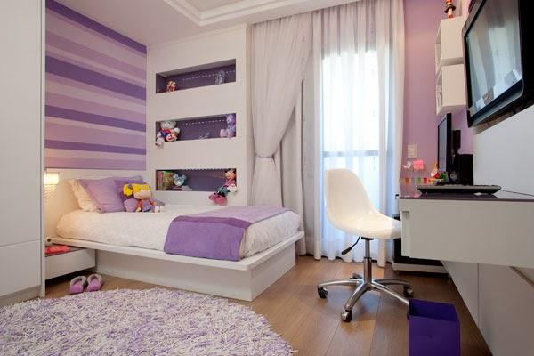 Dormitorios para chicas en color lila - Dormitorios colores y estilos