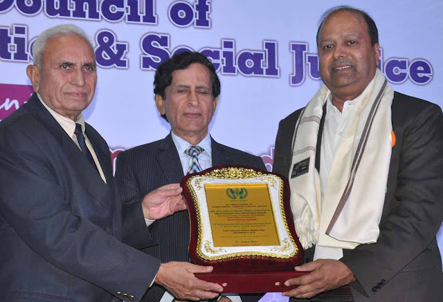 Awarded JC Bose University Vice Chancellor Dinesh Kumar for a remarkable contribution in the field of education