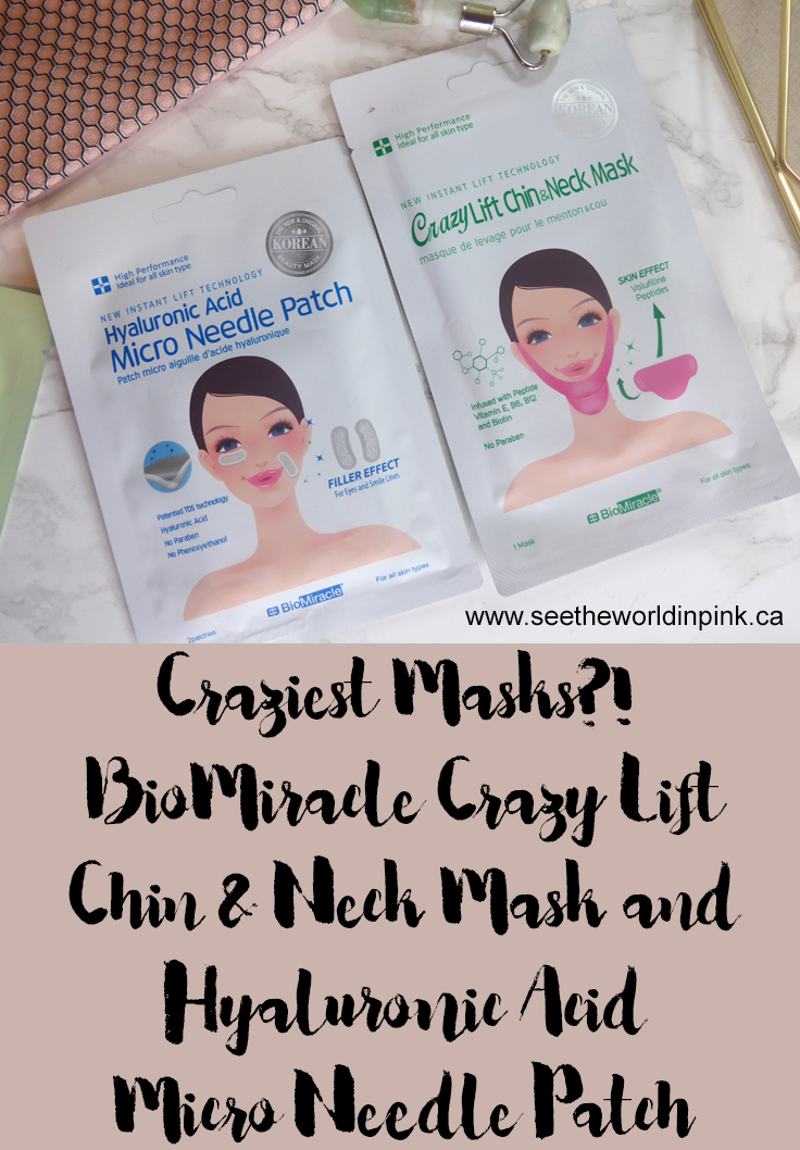 Skincare Saturday - BioMiracle Hyaluronic Acid Micro Needle Patch and Crazy Lift Chin & Neck Mask
