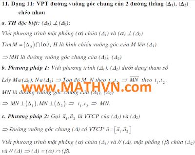 phuong trinh duong thang oxyz