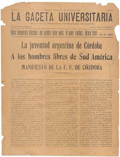 Ethos y representaciones sociales: el estudiante universitario como sujeto emergente. Un análisis crítico del  Manifiesto Liminar de 1918.