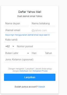 daftar email baru