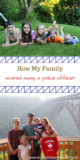 How My Family Scared Off A Police Officer / Large Family Life / Down syndrome blog