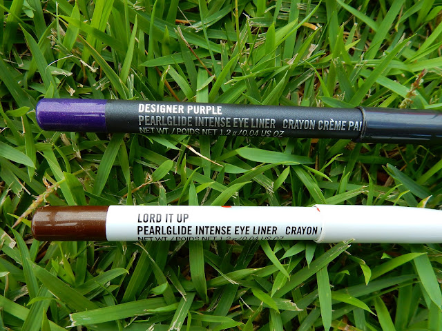 M.A.C Pearlglide Intense Eye Liners 'Designer Purple' and 'Lord It Up' - www.modenmakeup.com