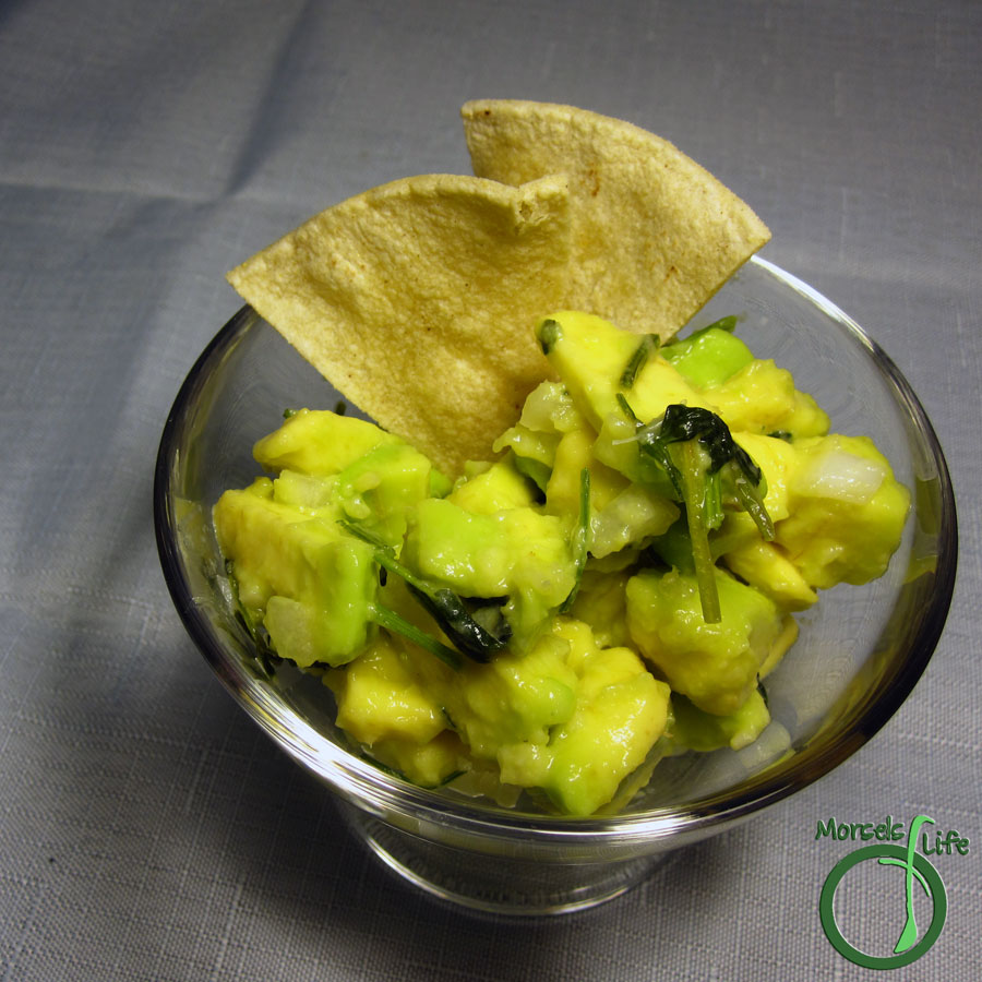 Morsels of Life - Guacamole, Version 3.0 - Avocado, mixed with onions, cilantro, lime, and lots of garlic for a garlicky guacamole.
