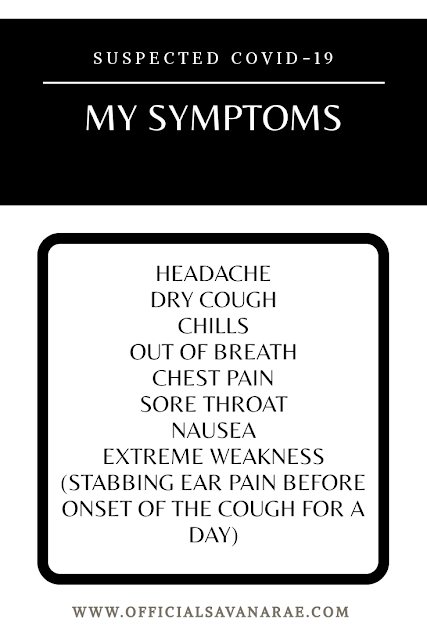 My COVID-19 suspected symptoms and experience