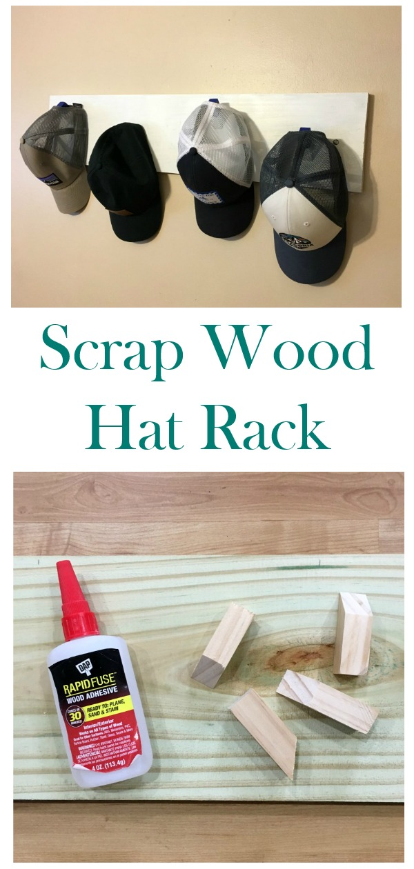 Make this easy hat rack using scrap wood!