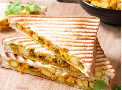 Paneer Korma Sandwich Recipe