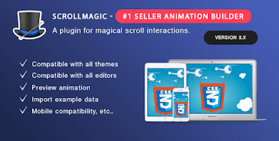 Scroll Magic v3.3.1.2 – Scrolling Animation Builder WordPress Plugin