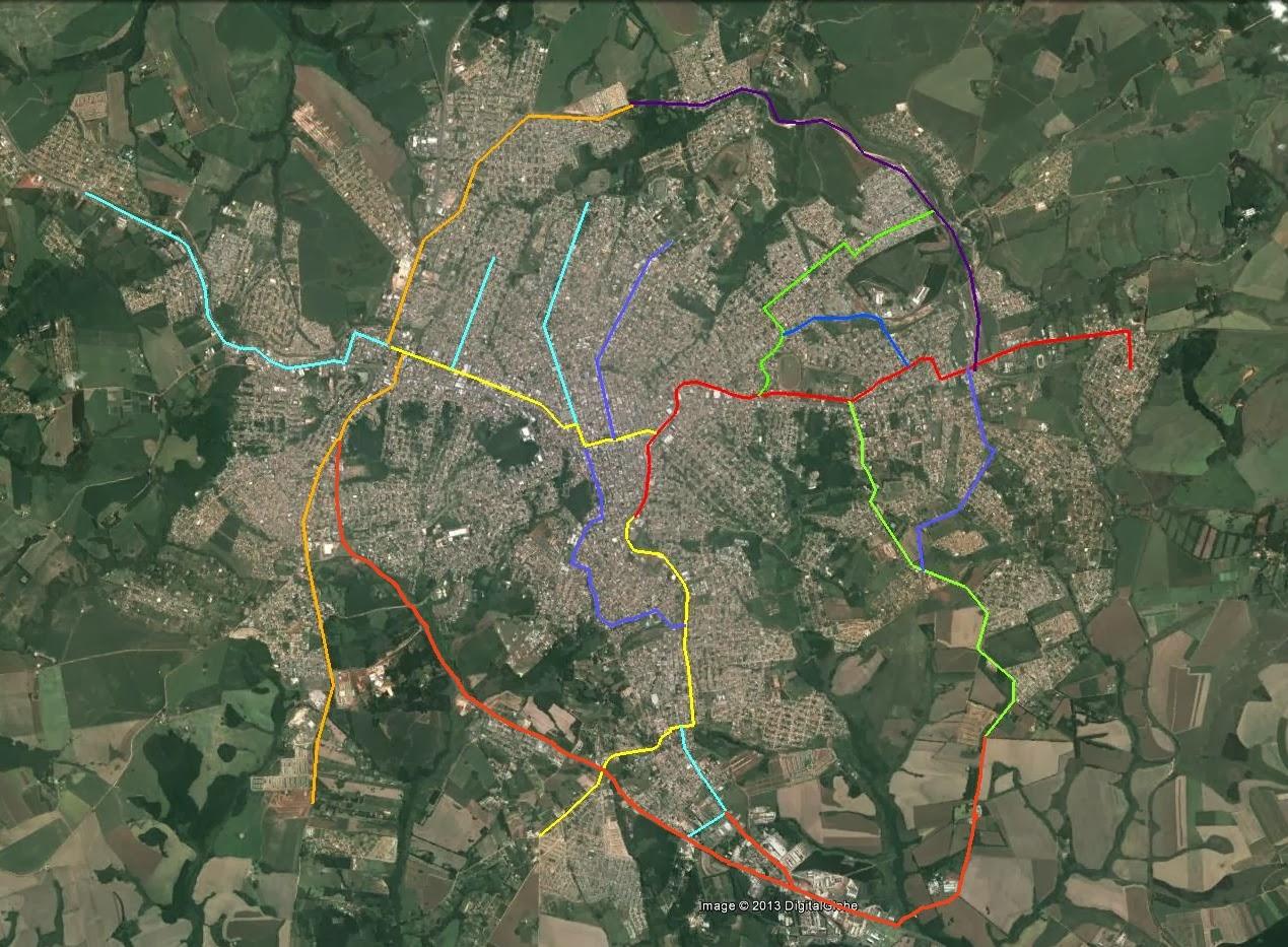 Mudei As Rotas E Meus Planos: ProCicloviasPG: Mapa Cicloviário De Ponta Grossa