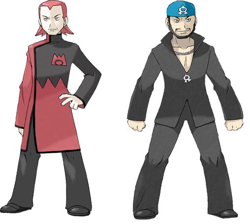 Pokémon Ruby e Sapphire Maxie Archie