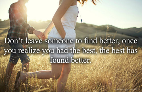 Finding Someone Better Quotes