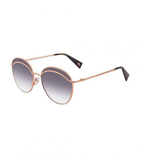 MARC JACOBS Gold-Dark Grey Gradient Round Sunglasses
