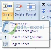 fungsi menu insert dalam excel