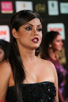 Glamarous Actress Neetu Chandra in Black dress at IIFA Utsavam Awards 002.JPG