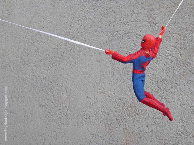Mego Spider-Man 8 pulgadas lanzando telarañas spider web  (MEGO - World's Greatest Super Heroes!)