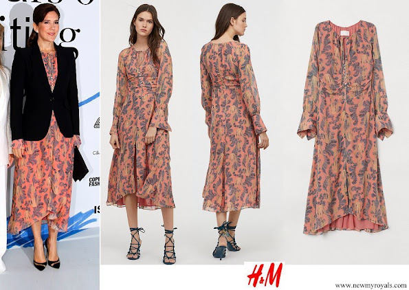 Crown Princess Mary wore H&M silk dress