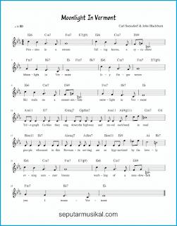 chord moonlight in vermont lagu jazz standar