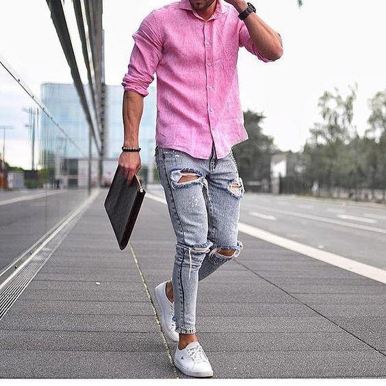 Macho Moda - Blog de Moda Masculina  Camisa Social para fora da ... 295f999a06a