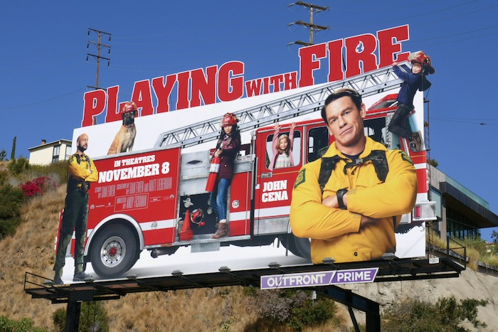 Playing With Fire movie billboard