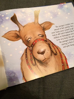 Inside the book showing a reindeer