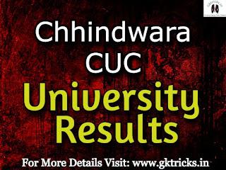 Chhindwara University Results 2021