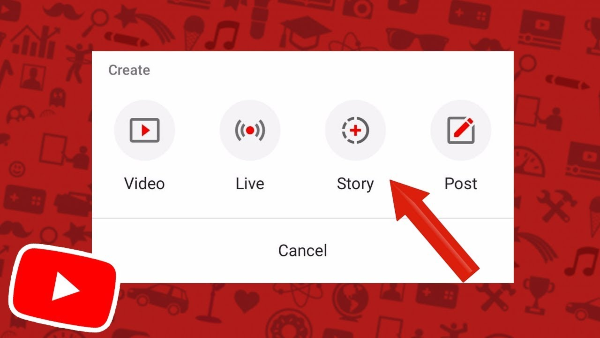 how to create a youtube story