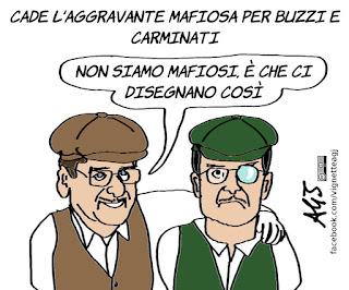 buzzi, carminati, mafia capitale, giustizia, corruzione, roma, satira, vignetta