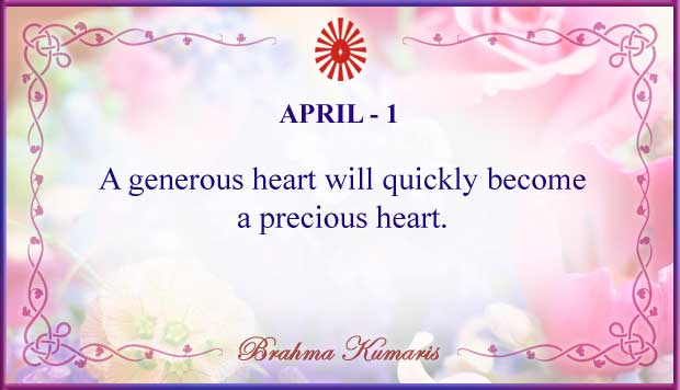 Thought For The Day April 1