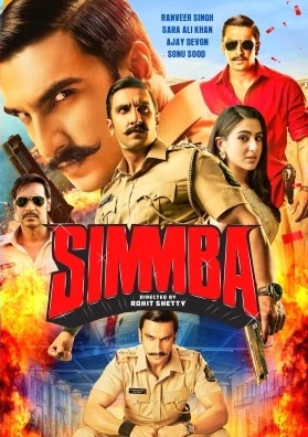 Simmba (2018) Hindi 480p BluRay x264 ESubs 500MB