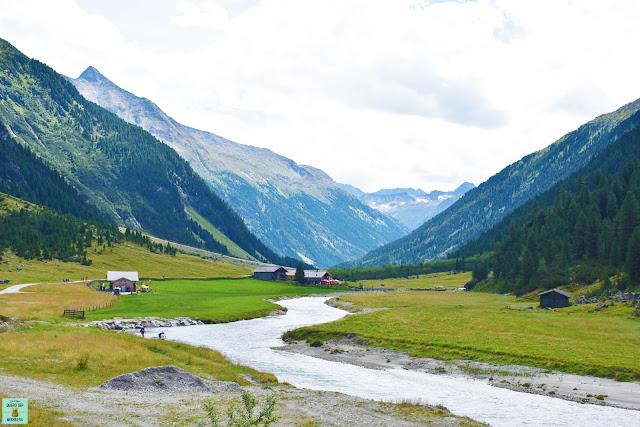 Valle del río Krimmler Ache en Austria