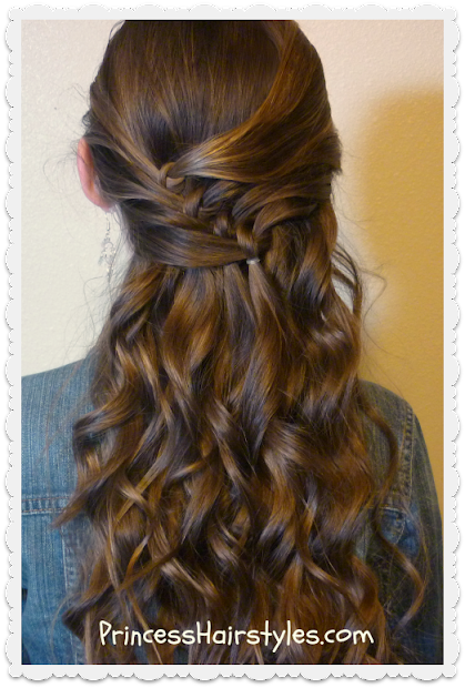 diagonal knots hairstyle
