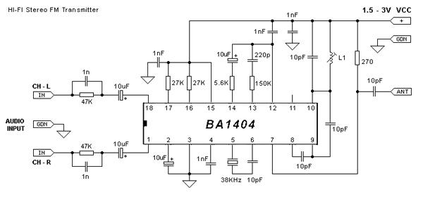 Transmitter-mini-fm-stereo-ba1404, Transmitter mini fm stereo ba1404