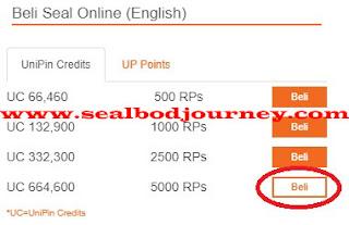 Menambah RPs menggunakan Unipin Seal BoD 6