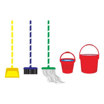 Download Vector Alat Kebersihan dengan Corel Draw X7