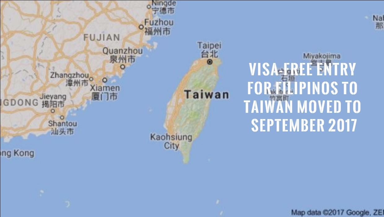 Visa Free Entry To Taiwan For Filipinos Has Been Rescheduled