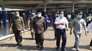 Cegah Penyebaran Covid-19, Komisi IV DPRD Lampung Tinjau Langsung Simpul-Simpul Transportasi Publik
