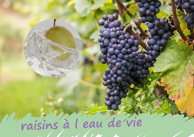 Raisins conservés à l'alcool (eau de vie)