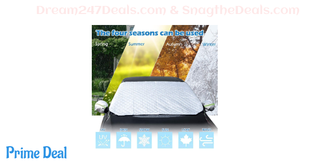 60%OFF Car Windshield Sunshade,Car Snow Cover with Mirror Covers