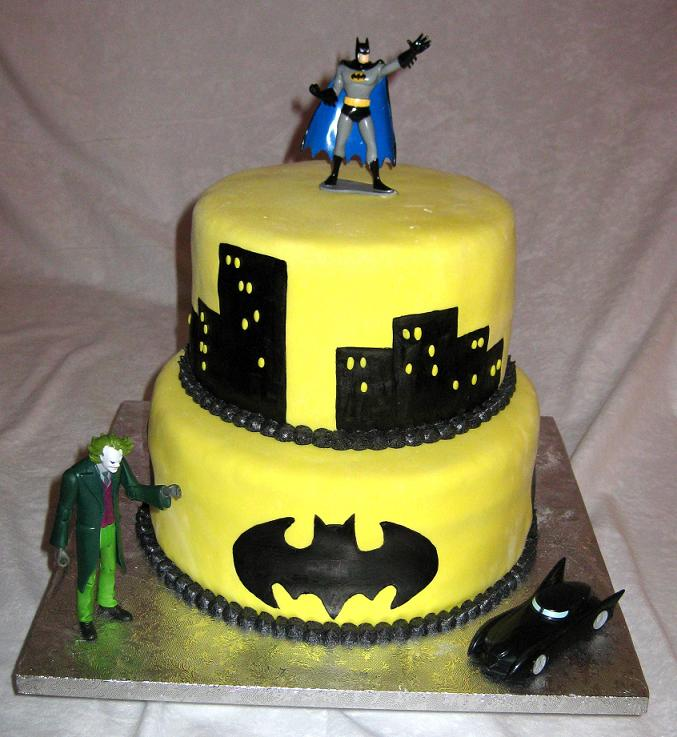 Superman And Batman Wedding Cake