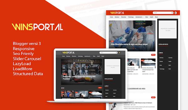 Download WinsPortal Responsive Blogger Premium template