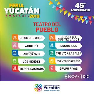 artistas teatro del pueblo feria yucatán xmatkuil 2019