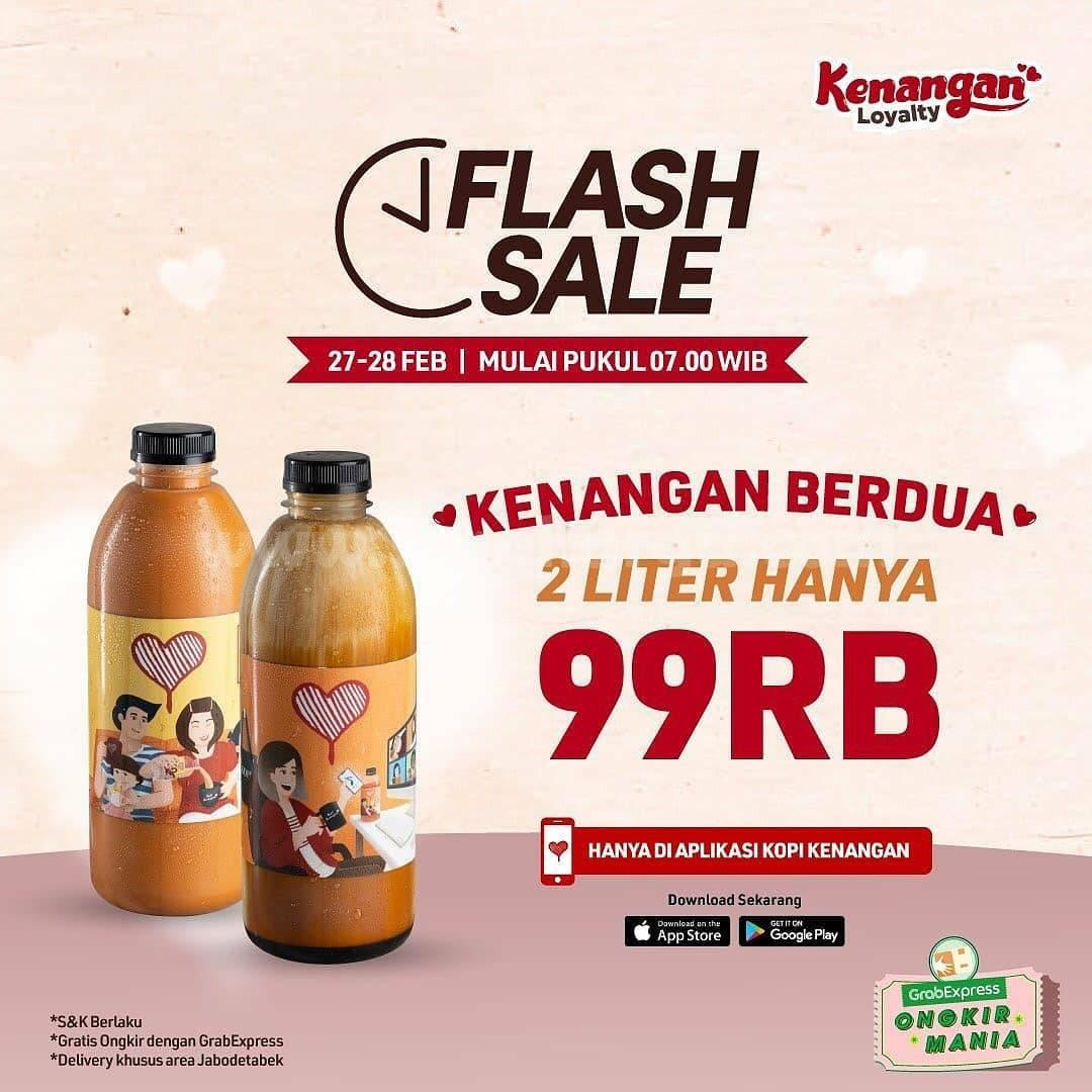 Kopi Kenangan Flash Sale! Promo 2L Liter Bundle mulai Rp 99K