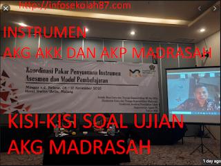 Instrumen AKG AKK dan AKP Sudah Siap 19 November Pelaksanaan AKG AKK dan AKP Madrasah 2020