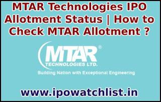 MTAR Technologies Allotment Status