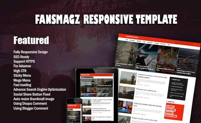 Fonsmagz Responsive Blogger Template