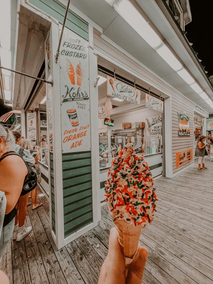 Seaside Heights Boardwalk  Seaside Heights NJ Boardwalk - - Seaside Heights food - Kohrs Frozen Custard Seaside Heights - Seaside Heights Boardwalk Hours - Seaside Heights Boardwalk Tickets - Things to do in Seaside Heights, NJ – Seaside Heights Attractions